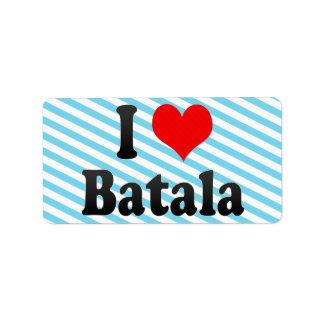 Amo Batala, la India. Mera Pyar Batala, la India Etiqueta De Dirección