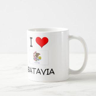 Amo BATAVIA Illinois Taza Básica Blanca