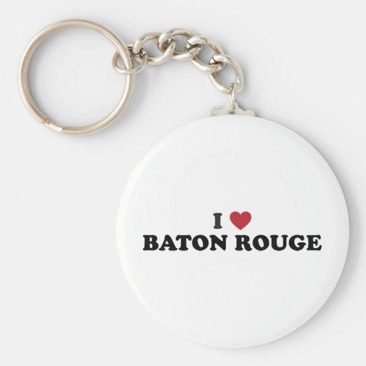 Amo Baton Rouge Luisiana Llavero Redondo Tipo Pin