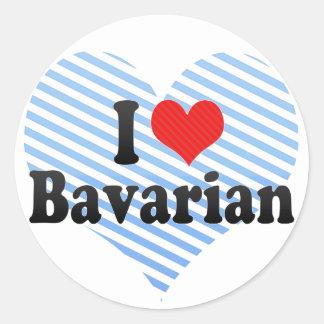 Amo Bavarian Etiqueta Redonda