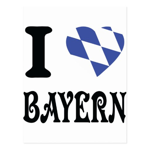 Amo Baviera Tarjetas Postales