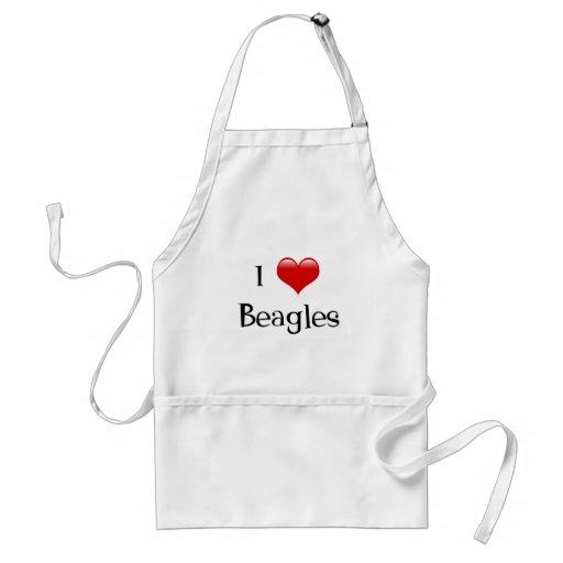 Amo beagles delantales