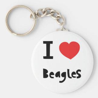 Amo beagles llavero
