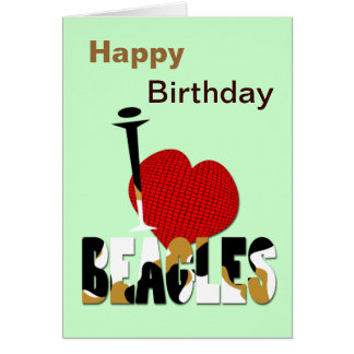 Amo beagles tarjeta de felicitación