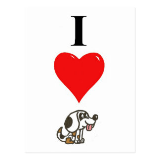 Amo beagles tarjeta postal