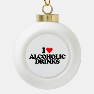 AMO BEBIDAS ALCOHÓLICAS ADORNO DE CERÁMICA EN FORMA DE BOLA