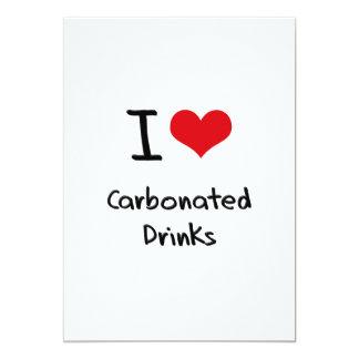 Amo bebidas carbónicas invitación 12,7 x 17,8 cm
