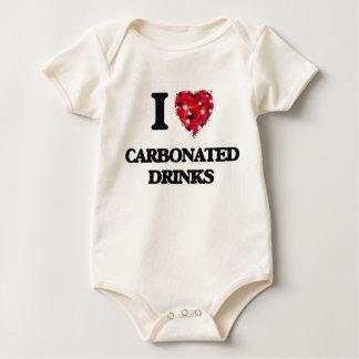 Amo bebidas carbónicas trajes de bebé