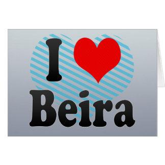 Amo Beira, Mozambique Tarjeta De Felicitación