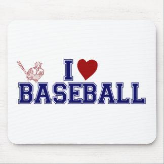 Amo béisbol alfombrilla de ratón
