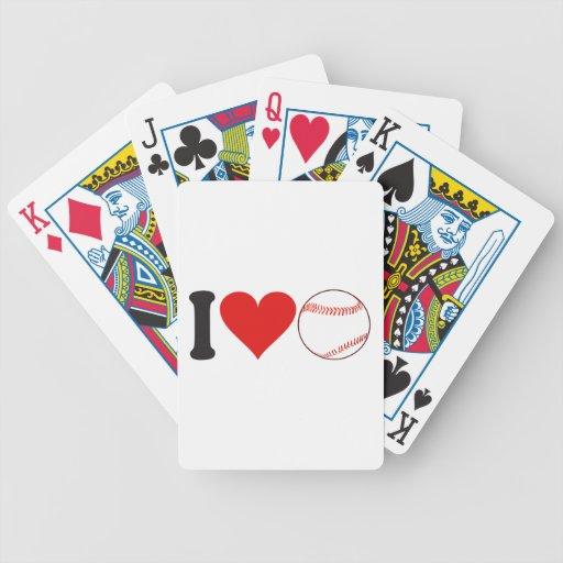 Amo béisbol * baraja de cartas
