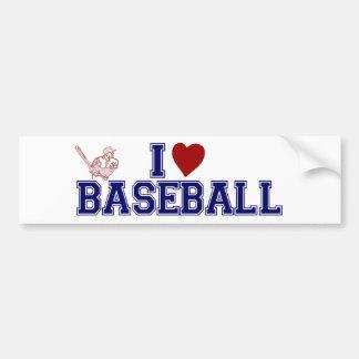 Amo béisbol pegatina de parachoque