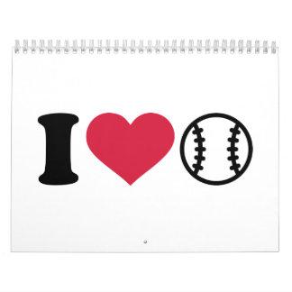 Amo béisbol calendarios