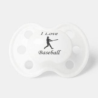 Amo béisbol chupete de bebé