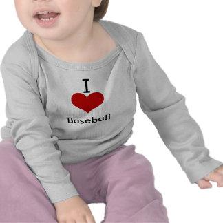 Amo béisbol (del corazón) camiseta