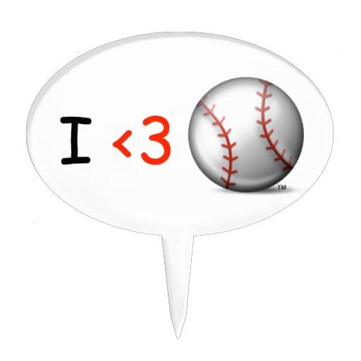 Amo béisbol figuras para tartas