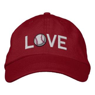 Amo béisbol gorra de béisbol bordada