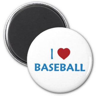 Amo béisbol imán redondo 5 cm