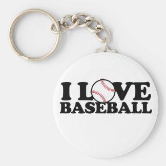 Amo béisbol llavero redondo tipo pin