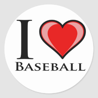 Amo béisbol etiquetas redondas