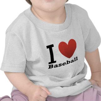 Amo béisbol camiseta