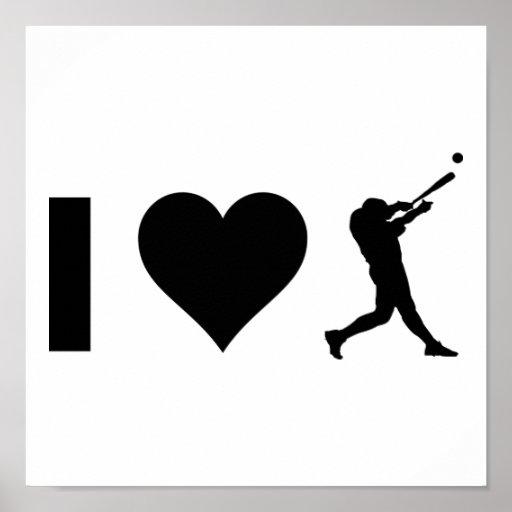 Amo béisbol póster