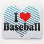 Amo béisbol tapete de ratones