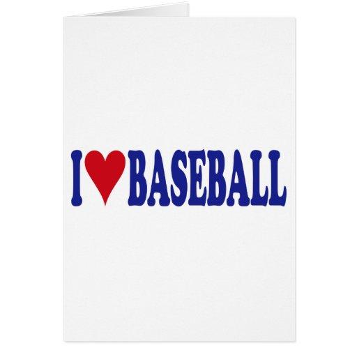 Amo béisbol tarjeta de felicitación