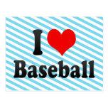 Amo béisbol tarjeta postal
