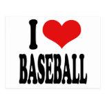 Amo béisbol tarjetas postales