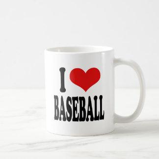 Amo béisbol taza básica blanca