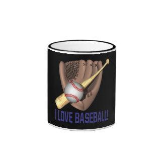 Amo béisbol taza de dos colores