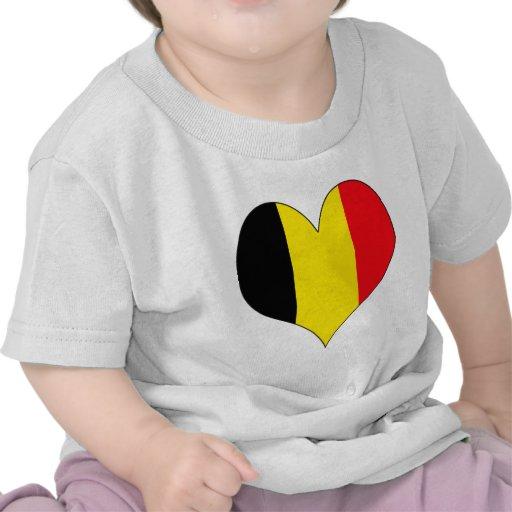 Amo Bélgica Camisetas