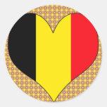 Amo Bélgica Etiquetas Redondas