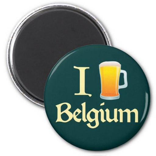 Amo Bélgica Imán De Nevera