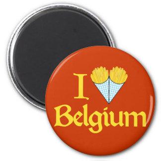 Amo Bélgica Imán De Frigorifico