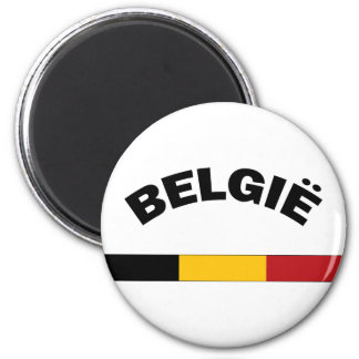 Amo Bélgica Imán Redondo 5 Cm