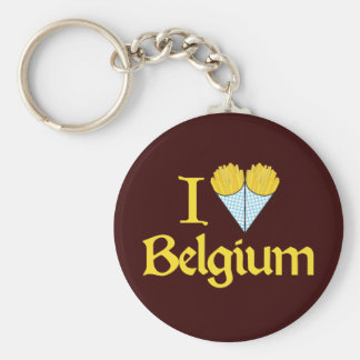 Amo Bélgica Llavero Redondo Tipo Pin