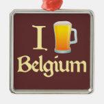 Amo Bélgica Ornaments Para Arbol De Navidad