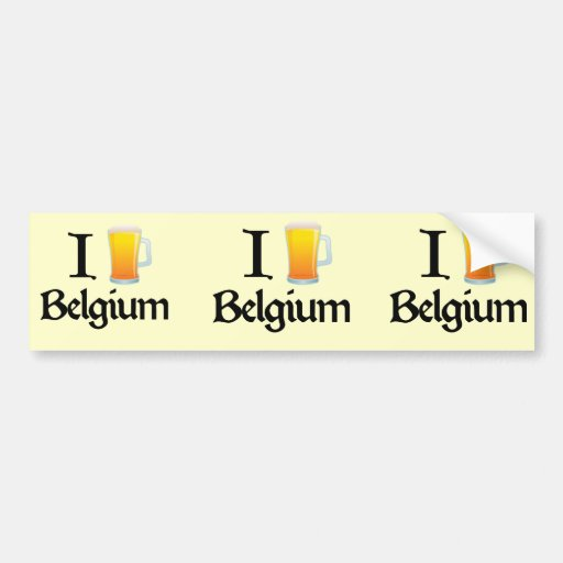 Amo Bélgica Pegatina Para Auto