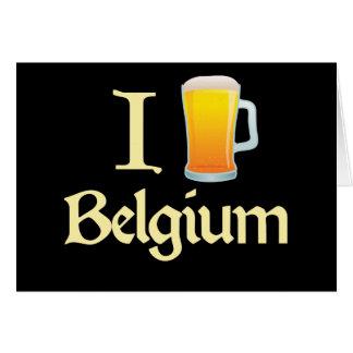 Amo Bélgica Tarjeta De Felicitación