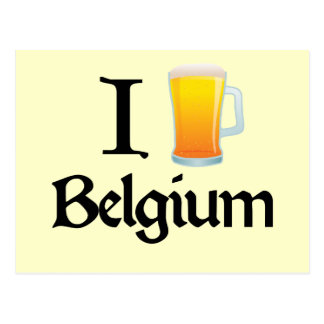 Amo Bélgica Tarjeta Postal