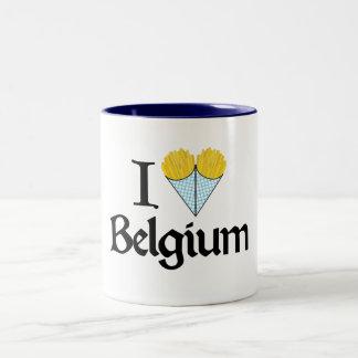 Amo Bélgica Taza Dos Tonos