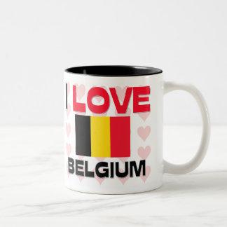 Amo Bélgica Tazas