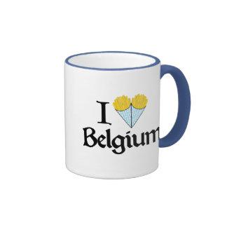 Amo Bélgica Taza A Dos Colores