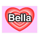 Amo Bella. Te amo Bella. Corazón Postal