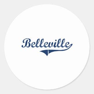 Amo Belleville Michigan Etiquetas Redondas