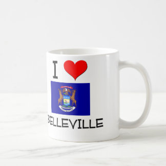 Amo Belleville Michigan Tazas De Café