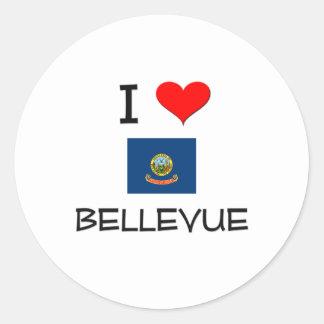 Amo BELLEVUE Idaho Etiquetas Redondas