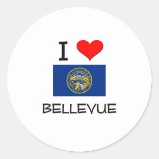 Amo Bellevue Nebraska Etiquetas Redondas